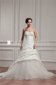 Misses Sleeveless A-Line Sweetheart Natural New Arrival Wedding Dresses