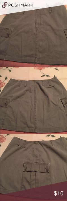 J crew mini skirt Taupe colored J Crew mini skirt size 14 has minimal wear Shiny lines in front possibly from ironing? 16 inches in length Waist measures 34 J Crew Skirts Mini
