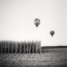 Panorama Camera, Hot Air Balloon, Landscape Photography, Balloons, Exhibitions, Black And White, Gallery, Classic, Prints