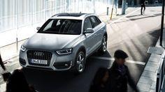 Stadsauto Audi Q3.