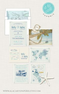 Destination wedding invitation Boracay Island The Philippines