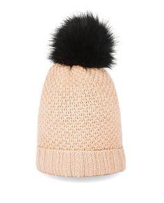 Kaschmir Mütze mit Bommel camel front Winter Hats, Fashion, Cashmere Beanie, Moda, Fashion Styles, Fasion