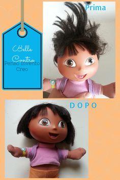 penso+invento+creo: Come lavare e pettinare i capelli crespi delle bambole