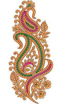 This design also used as Applique Embroidery Designs, This is Applique Designs for Children Saree Embroidery Design, Border Embroidery Designs, Embroidery Works, Applique Designs, Beaded Embroidery, Machine Embroidery Designs, Embroidery Stitches, Embroidery Patterns, Paisley Design