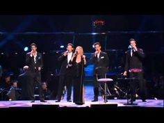 Barbra Streisand singing Evergreen from A Star Is Born with Il Divo at her October 2006 Florida Concert. The song was sung in both English and Italian. This song won the Best Song title at the 1978 Academy Awards. Easy Listening Music, 6 Music, Music Songs, Good Music, Music Videos, Lorrie Morgan, Best Songs, Love Songs, Barbara Streisand
