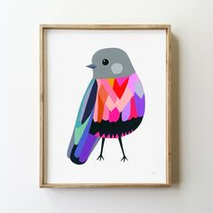 Rose Robin Archival Print - inaluxe - 1