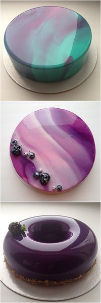 DIY Mirror Glaze Cake Marble Decorating By Olga #Dessert, #Cake, #Design Video => http://www.fabartdiy.com/diy-mirror-glaze-cake-marble-decorating-recipe/