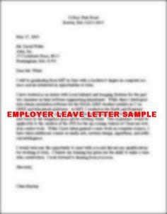 Sample of Employer Leave Letter