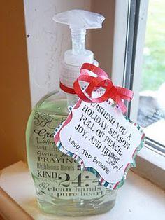 """Wishing you a Holiday Season full of Peace, Joy, and SOAP!"" Neighbor Christmas Gifts"