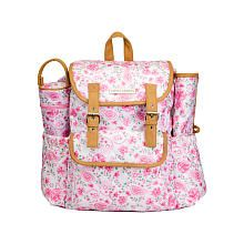 Laura Ashley 4-in-1 Paisley Backpack Diaper Bag - Pink - Babies