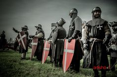 """Hospitaller Knights, around 1248. Picture by Wim Roelsma. Dutch reenactment group """"De Hospitaalridders""""."""