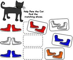 Pete the Cat color match available at www.makinglearningfun.com in black and white or color.