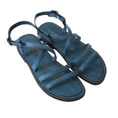 Sandalo ibiza blu da donna