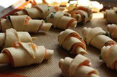Croissants au saumon : à préparer à l'avance et à conserver au congélateur, mettre au four en cas d'apéro surprise
