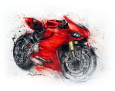 Ducati Panigale 1199 Abstract by AntiHero by AntiHeroArtifacts