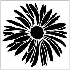 Daisy on Laser-etched Stencil por PearlDesignStudio en Etsy