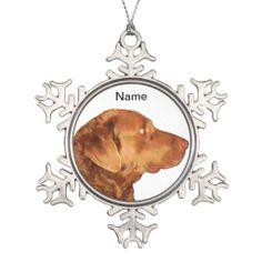 Custom Chesapeake Bay Retriever Snowflake Ornament zazzle.com/capecodgiftshop*