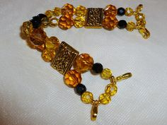 Golden Glow Interchangeable Watch Band for use by PennysBeadQueen2, $10.50