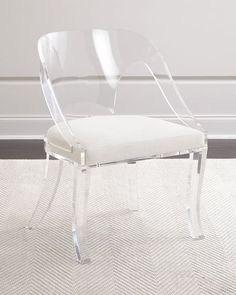 Shop Delilah Round Back Acrylic Chair at Horchow, where you'll find new lower shipping on hundreds of home furnishings and gifts. Acrylic Chair, Acrylic Furniture, Furniture Decor, Lucite Furniture, Modular Furniture, Furniture Stores, Antique Furniture, Furniture Design, Retro Dining Chairs