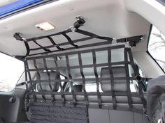 Upper barrier net and small ceiling net for Xterra. www.raingler.com