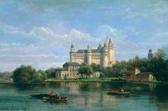 The Chateau de Pierrefonds, 1869 by Pierre Justin Ouvrie