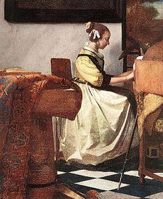 "Johannes Vermeer - detail from ""The concert"", 1665"