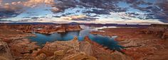 Glen Canyon area flooded to made Lake Powell. Picture is taken from Alstrom Point.
