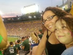 Family night at Lambeau Field in Green Bay 2014