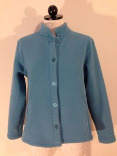 LL Bean Cashmere Sweater M size Womens Light Blue Button Cardigan ...