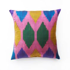 Beehive Throw Pillow - Uzbekistan