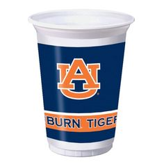 20 oz Printed Plastic Cups Auburn Univ/Case of 96