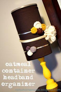 Super Cute DIY Idea for Organizing Headbands  @notsohomemade.blogspot.com