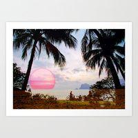 Paradise Found Art Print Endless Summer | Society6