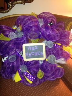 Classroom Mesh Wreath to make classroom decor  Just A Primary Girl