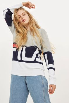 f9b88ed26bbbf Crew Neck Sweater by Fila - New In Fashion - New In - Topshop Europe Fila