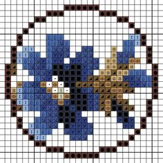 "Мини-колье ""Цветы в пшеничном поле"" - Часть моей жизни Iron Beads, Cross Stitch Flowers, Cross Stitch Patterns, Stitch 2, Cross Stitching, Tulips, Needlepoint, Cross Stitch Embroidery, Picture Wall"