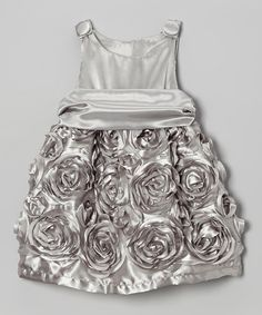 Take a look at this Caught Ya Lookin' Silver Rose Dress - Infant on zulily today!