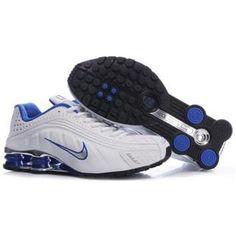 104265 066 Nike Shox R4 White Blue J09119
