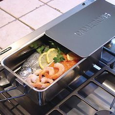 Gourmet Mini Smoker (7x11-in.) this works great and much faster than traditional smokers