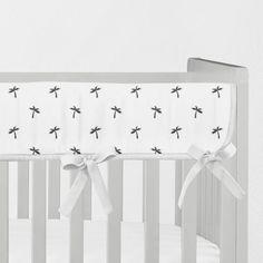 Patton's Palm Pattern in Black & White Rail Guard ~ Monochrome Rail Cover ~ Teething Rail Covers ~ Gender Neutral Nursery Crib Rail Cover, Baby Doll Crib, Baby Crib Bedding Sets, White Nursery, Nursery Neutral, Cheap Baby Cribs, Crib Protector
