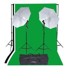 Andoer Photography Studio Portrait Product Light Lighting Tent Kit Photo Video Equipment, Silver