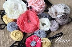 DIY FABRIC FLOWER ACCESSORIES