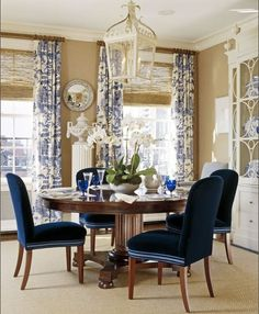 Blue & White - Dining Room - by Carter & Co.