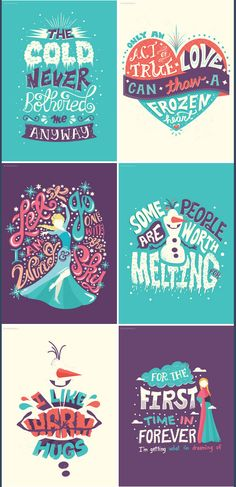 frozen typography by risa rodil