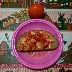 Pomodori con pane  di segale Tomatoes with rye bread