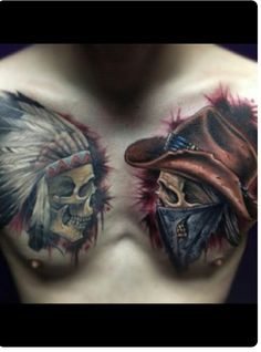 Discover cool bone structures and feathered heads with the top 80 best Indian skull tattoo designs for men. Explore cool manly tribal and chief ink ideas. Tattoo Foto, Tatoo Art, Body Art Tattoos, Sleeve Tattoos, Cool Tattoos For Guys, Trendy Tattoos, Cool Tats, Tattoo Cowboy, Indian Skull Tattoos
