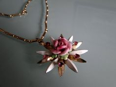 Vintage Rose Necklace by tintiara on Etsy, $31.00