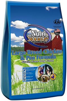 Nutri Source Grain Free - Large Breed - Chicken and Pea- 30 lbs *** New and awesome dog product awaits you, Read it now  : Dog food types