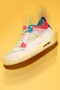 """Union's Chris Gibbs has love for the Air Jordan 4. But its tongue? Not so much. Sighting its height as a problem because it dug into his shin, Gibbs stitched down the tongue on his """"Guava Ice"""" collaboration in 2020. Problem solved."""