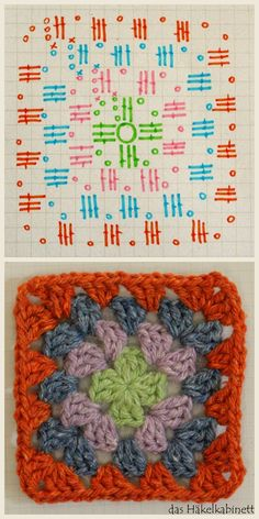 Transcendent Crochet a Solid Granny Square Ideas. Inconceivable Crochet a Solid Granny Square Ideas. Granny Square Crochet Pattern, Crochet Granny, Crochet Motif, Crochet Squares, Free Crochet, Flower Granny Square, Granny Square Blanket, Granny Squares, How To Start Knitting